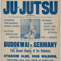 15th Annual Display of the Budokwai 1932