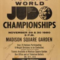 First Women's World Judo Championships 1980