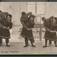 Jiu jitsu wrestlers 1910