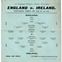 International Hockey Match 1909