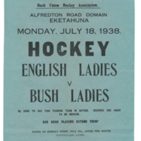 New Zealand Hockey Match 1938